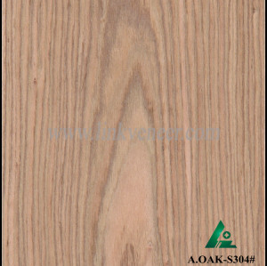 A.OAK-S304#, 0.5mm artificial wood veneer reconstituted veneer