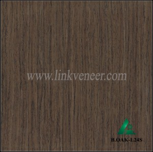B.OAK-L24S, black oak wood engineered wood veneer