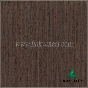 B.OAK-L617S, black color oak face veneer