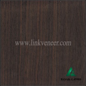B.OAK-L4598S, BLACK OAK VENEER ENGINEERED WOOD VENEER OF VENEER