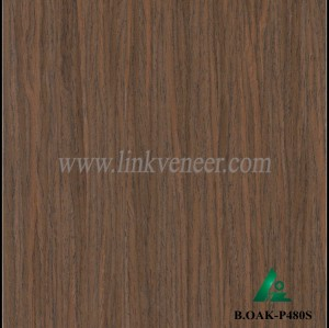 B.OAK-P480S, reconstituted wood veneer/recon oak veneer/black oak veneer