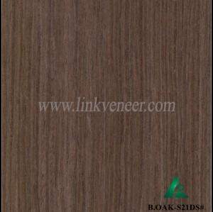 B.OAK-S21DS#, engineered wood veneer recon oak face veneer poplar face veneer size 2500*640mm