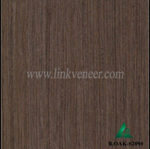 B.OAK-S209#, engineered oak wood veneer / recon black oak veneer