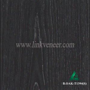 B.OAK-T1394(S), black oak wood veneer
