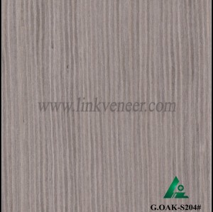 G.OAK-S204#, 0.4mm engineered gray oak wood veneer for furniture