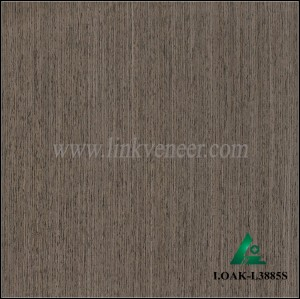 I.OAK-L3885S, 0.20mm engineered black oak wood veneer for furniture