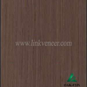 OAK-F21S, engineered dark oak veneer