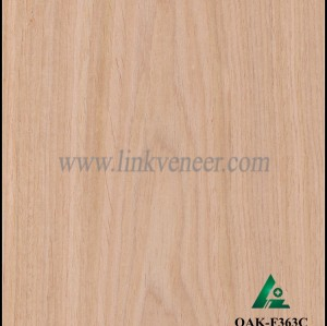 OAK-F363C, Engineered straight grain oak wood veneer