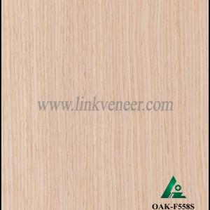 OAK-F558S, Engineered straight grain oak wood veneer