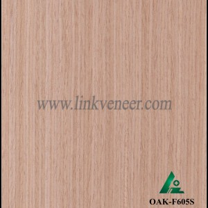OAK-F605S, Engineered straight grain oak wood veneer