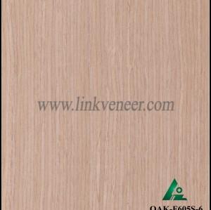 OAK-F605S-6, Engineered straight grain oak wood veneer