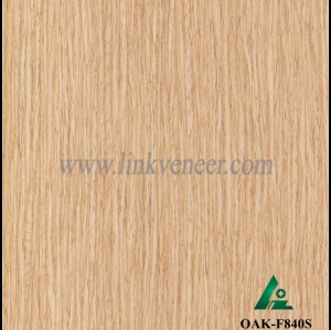OAK-F840S, Engineered straight grain oak wood veneer
