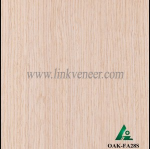 OAK-FA28S, Engineered straight grain white oak wood veneer
