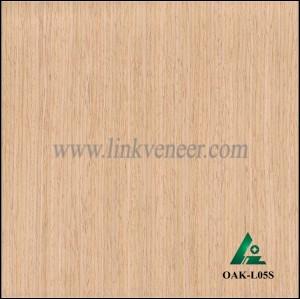 OAK-L05S, Engineered straight grain oak wood veneer