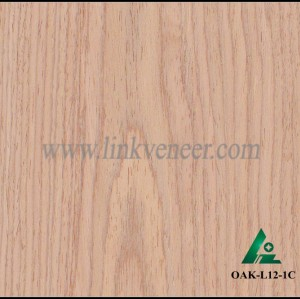 OAK-L12-1C, Engineered rotary cut oak wood veneer