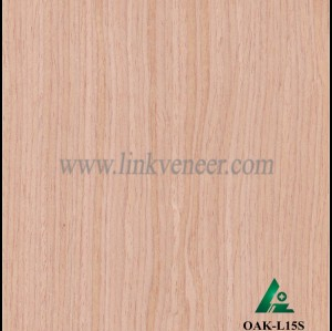 OAK-L15S, Engineered straight grain white oak wood veneer