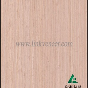 OAK-L16S, Engineered straight grain oak wood veneer