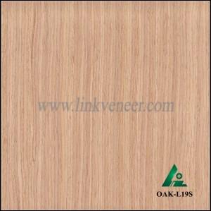 OAK-L19S, Engineered straight grain oak wood veneer
