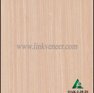 OAK-L28-2S, Engineered straight grain oak wood veneer