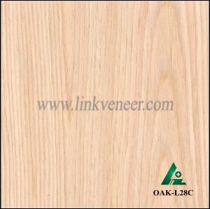 OAK-L28C, Engineered rotary cut oak wood veneer
