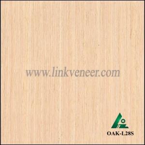 OAK-L28S, Engineered straight grain white oak wood veneer