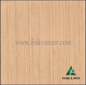 OAK-L101S, Engineered straight grain oak wood veneer