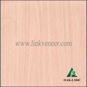 OAK-L104C, Engineered crown cut oak wood veneer
