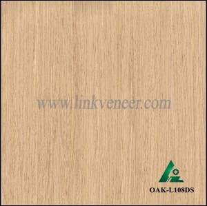 OAK-L108DS, Engineered straight grain oak wood veneer