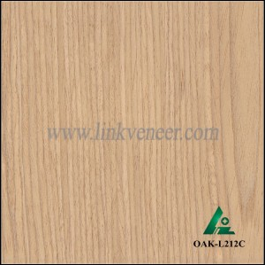 OAK-L212C, Engineered oak veneer, artificial oak wood veneer