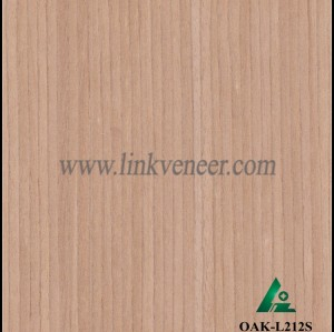 OAK-L212S, Engineered straight grain oak wood veneer