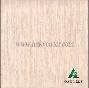 OAK-L223S, Engineered straight grain white oak wood veneer
