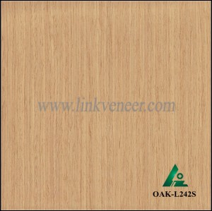OAK-L242S, yellow oak wood veneer