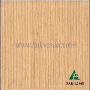OAK-L246S, Engineered straight grain yellow oak wood veneer