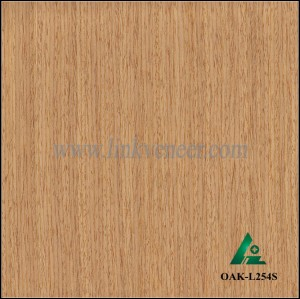OAK-L254S, Engineered straight grain yellow oak wood veneer