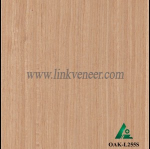 OAK-L255S, Engineered straight grain oak wood veneer