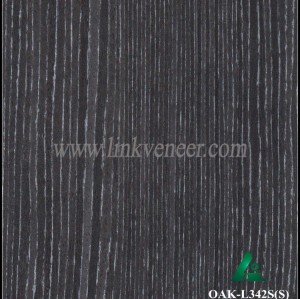 OAK-L342S(S), Recon black and white oak face veneer for plywood face