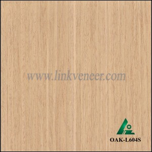 OAK-L604S, Engineered straight grain white oak wood veneer