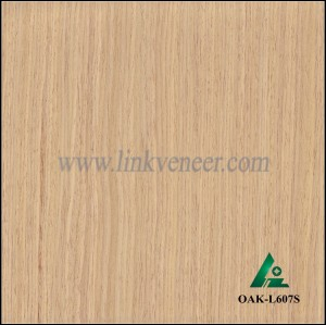 OAK-L607S, Engineered straight grain white oak wood veneer