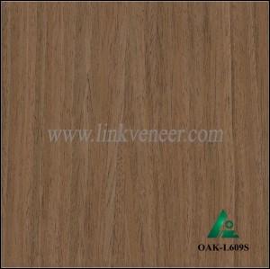 OAK-L609S, engineered dark oak wood veneer of furniture