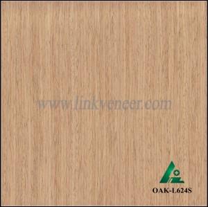 OAK-L624S, Engineered straight grain oak wood veneer