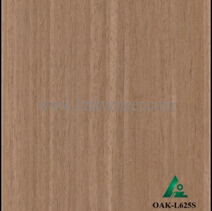 OAK-L625S, Engineered straight grain dark oak fancy veneer