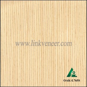 OAK-L765S, Engineered straight grain white oak wood veneer
