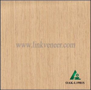 OAK-L1981S, Engineered straight grain white oak wood veneer