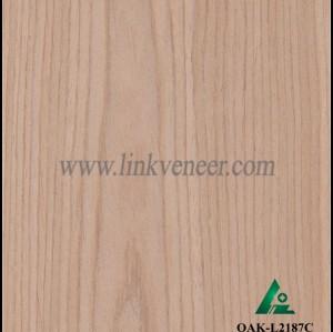 OAK-L2187C, Engineered mountain grain oak wood veneer