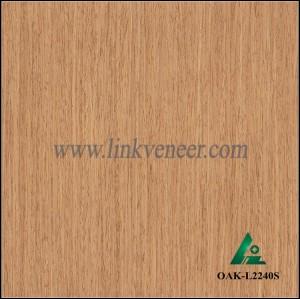 OAK-L2240S, Engineered straight grain yellow oak wood veneer