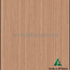 OAK-L2974S(S), Engineered straight grain silver oak wood veneer