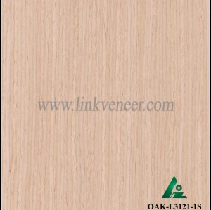 OAK-L3121-1S, Engineered straight grain oak wood veneer