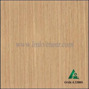 OAK-L3200S, Engineered straight grain oak wood veneer