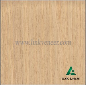 OAK-L4663S, Engineered straight grain yellow oak wood veneer