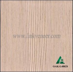 OAK-L4882S, Engineered straight grain oak wood veneer